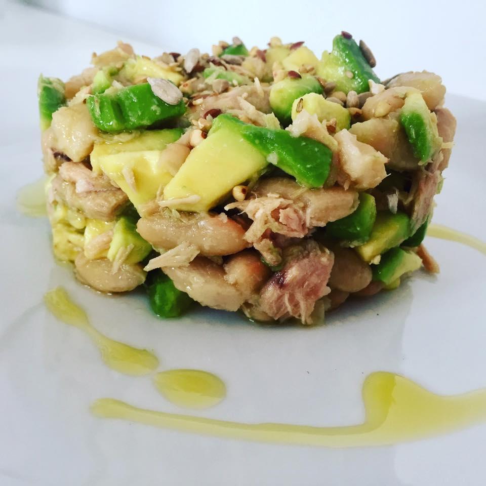 insalata di fagioli cannellini e tonno